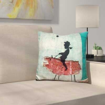 Cowboy Kid Throw Pillow