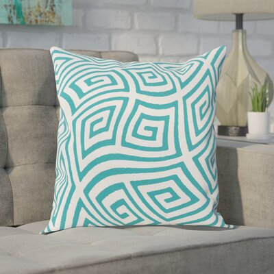 Adorno Throw Pillow Size: 20 H x 20 W, Color: Lake Blue