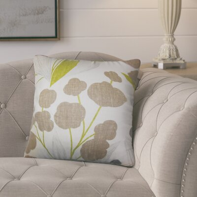 Berkhamstead Floral Linen Throw Pillow Color: Green