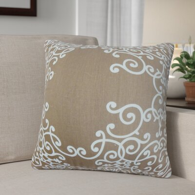 Khiry Floral Cotton Throw Pillow Color: Espresso, Size: 24 H x 24 W