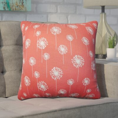 Wyona Floral Cotton Throw Pillow Color: Pink