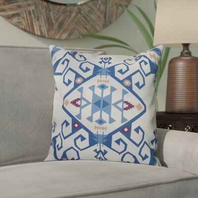 Meetinghouse Outdoor Throw Pillow Size: 18 H x 18 W, Color: Blue