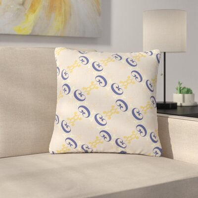 Louise Ornament Outdoor Throw Pillow Size: 16 H x 16 W x 5 D