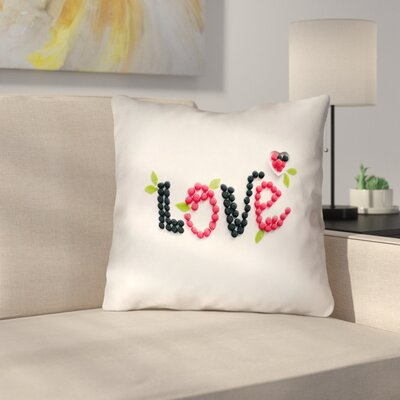 Buoi Love and Berries Throw Pillow Size: 18 x 18