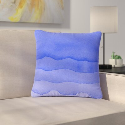 Ombre Digital Outdoor Throw Pillow Color: Berry, Size: 18 H x 18 W x 5 D