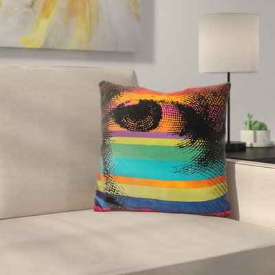 George Eye Throw Pillow