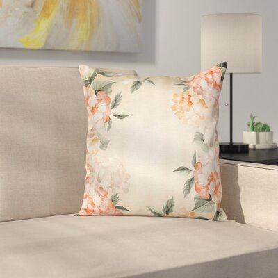 Blooming Spring Flowers Square Pillow Cover Size: 16 x 16