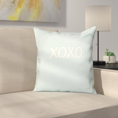 Forest River XOXO Throw Pillow Size: 26 H x 26 W, Color: Aqua