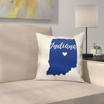 Indiana Pride Throw Pillow
