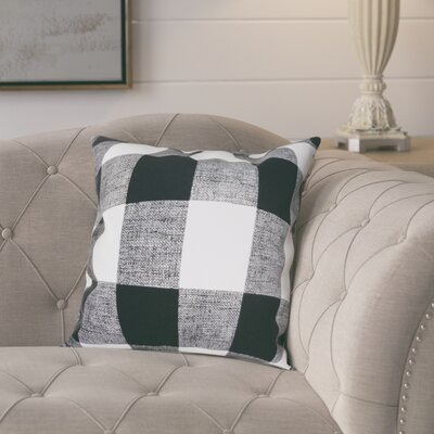 Lowman Plaid Pillow Cover Color: Black