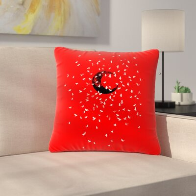 BarmalisiRTB Moon Outdoor Throw Pillow Size: 18 H x 18 W x 5 D