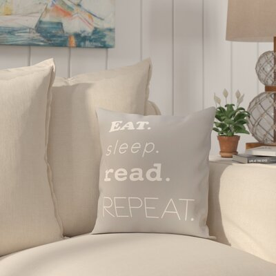 Cedarville Mantra Throw Pillow Size: 18 H x 18 W, Color: Gray