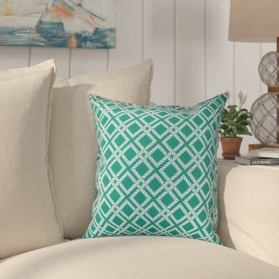 Hancock Rope Rigging Geometric Throw Pillow Size: 26 H x 26 W, Color: Green