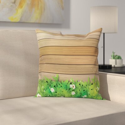Daisy Flower Garden Square Pillow Cover Size: 18 x 18