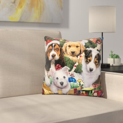 Puppy Surprise Throw Pillow