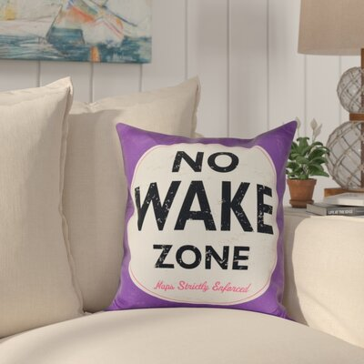 Golden Beach Nap Zone Word Outdoor Throw Pillow Size: 18 H x 18 W, Color: Purple