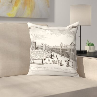 Sculps Gdheuman Throw Pillow Size: 16 x 16