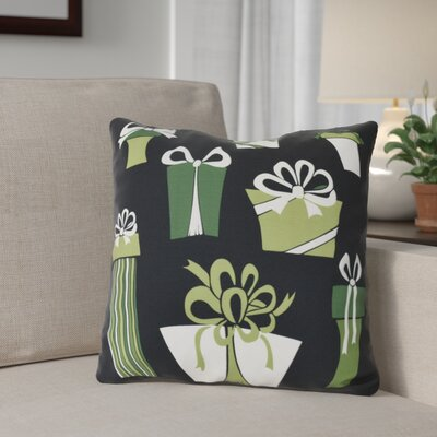 Present Time Throw Pillow Size: 20 H x 20 W, Color: Black