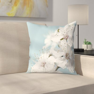 Maja Hrnjak Cherry Blossom Throw Pillow Size: 20 x 20