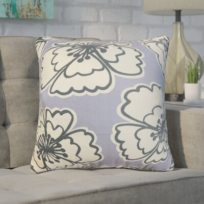Arrant Floral Cotton Throw Pillow Color: Purple