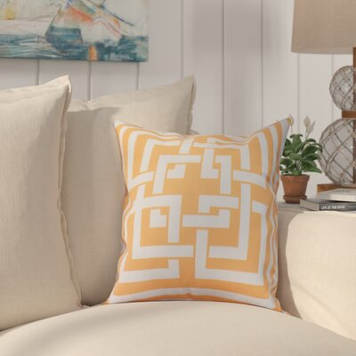 Crider Greek New Key Geometric Print Indoor/Outdoor Throw Pillow Color: Yellow, Size: 18 x 18