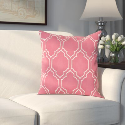 Aditya 100% Linen Throw Pillow Cover Size: 18 H x 18 W x 0.25 D, Color: PinkGray