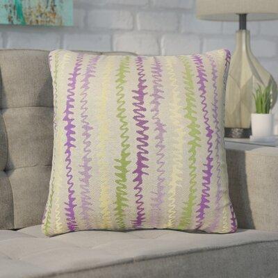 Dozier Zigzag Throw Pillow Color: Orchid