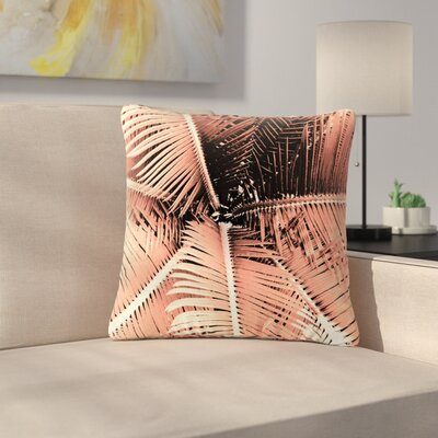 Suzanne Carter Palm Outdoor Throw Pillow Size: 18 H x 18 W x 5 D, Color: Pink