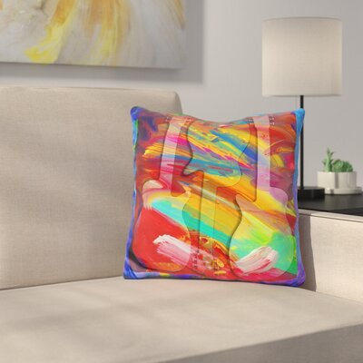 Guitar Swirls Throw Pillow