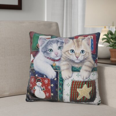 Berkey Christmas Calendar Kittens Throw Pillow