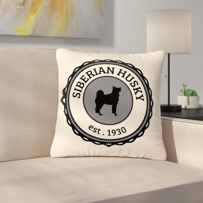 Husky Husky Dog Outdoor Throw Pillow Size: 16 H x 16 W x 5 D