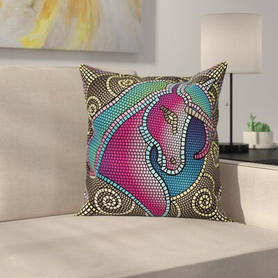 Unicorn Pillow Cover Size: 16 x 16