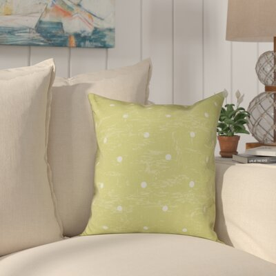 Pembrook Dorothy Dot Geometric Throw Pillow Size: 16 H x 16 W, Color: Light Green