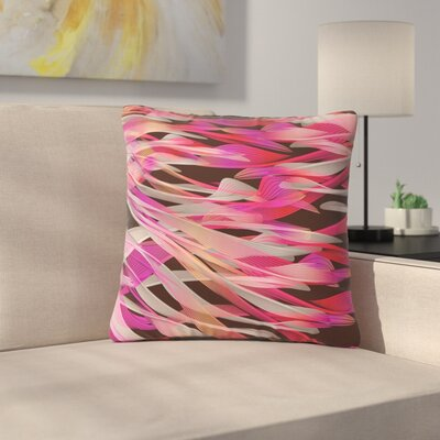 Angelo Cerantola Tropical Electric Abstract Outdoor Throw Pillow Size: 16 H x 16 W x 5 D, Color: Pink/Black