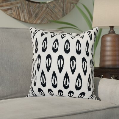 Bridgehampton Outdoor Throw Pillow Size: 18 H x 18 W, Color: Black