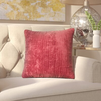 Marcelle Throw Pillow Size: 16, Color: Vintage Rumba
