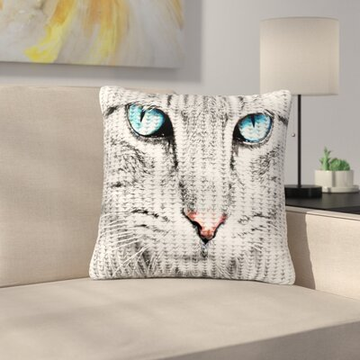 Suzanne Carter Cat Digital Outdoor Throw Pillow Size: 18 H x 18 W x 5 D
