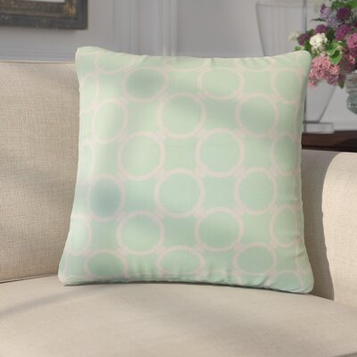 Donatella Geometric Cotton Throw Pillow Color: Mint