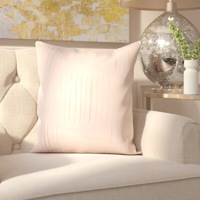 Holden 100% Cotton Throw Pillow Cover Size: 20 H x 20 W x 1 D, Color: Pink