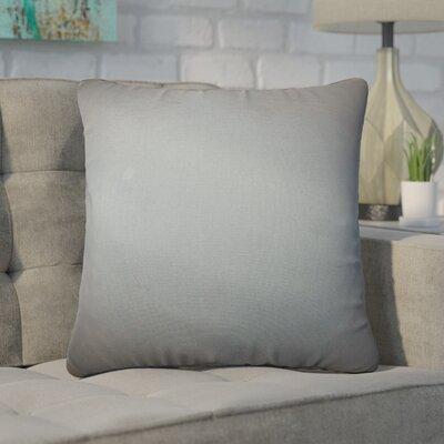 Desma Solid Cotton Throw Pillow Color: Gray