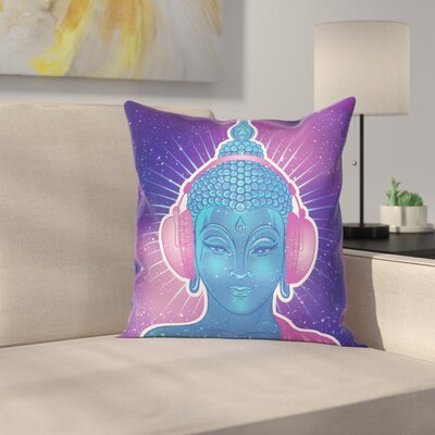 Modern Indian God Music Square Cushion Pillow Cover Size: 24 x 24