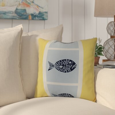 Bartow Fish Chips Outdoor Throw Pillow Size: 16 H x 16 W x 3 D, Color: Yellow