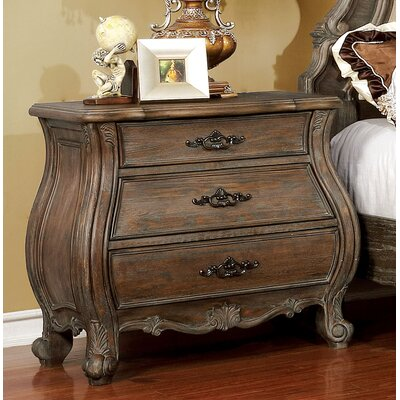 Adorno 3 Drawer Nightstand