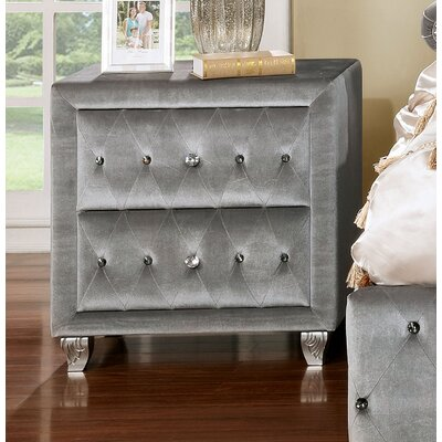 Mcnaughton 2 Drawer Nightstand