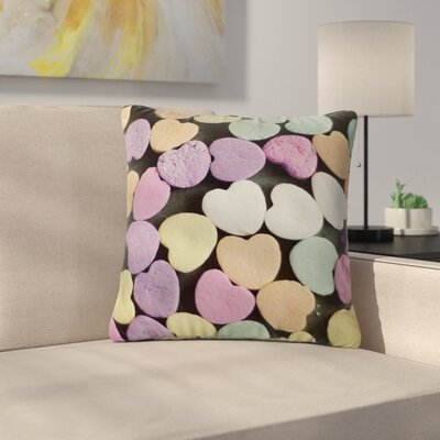 Cristina Mitchell Candy Love Photography Outdoor Throw Pillow Size: 18 H x 18 W x 5 D
