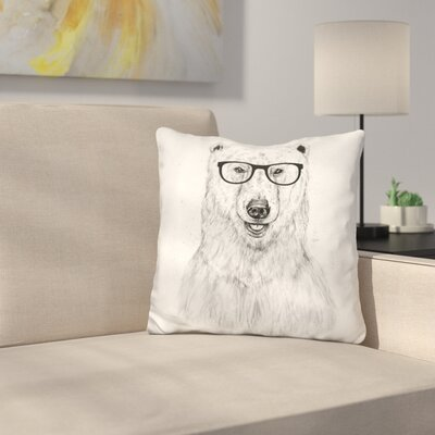 Geek Bear Throw Pillow