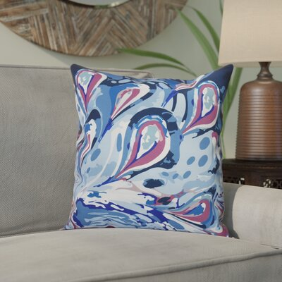 Willa Boho Splash Geometric Outdoor Throw Pillow Size: 18 H x 18 W, Color: Blue