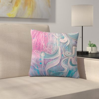 Electric Dreams by Mat Miller Outdoor Throw Pillow Color: Pink