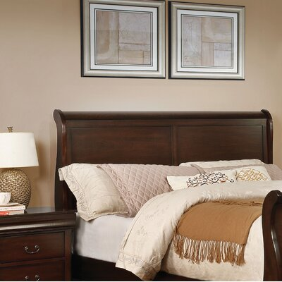 Fredette Sleigh Headboard Size: California King