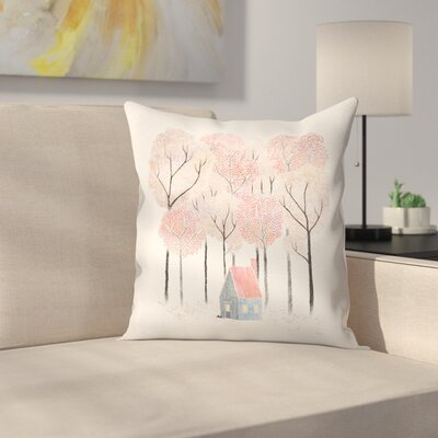 Cabin Throw Pillow Size: 16 x 16